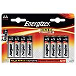 Pile Alcaline Energizer E91 AA 8 unità