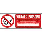 Cartello Markin vietato fumare Alluminio 35 x 12,5 cm