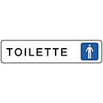 Segnaletica Markin toilette uomini Alluminio 4,5 x 20 cm