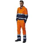 Pantalone SiGGi WORKWEAR Alta visibilità 60% cotone, 40% poliestere taglia m arancione, blu
