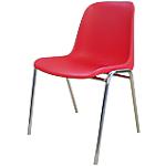 Sedia per sala d'attesa Elena rosso