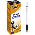 Penne a sfera BIC Cristal Grip nero 20 pezzi
