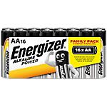 Pile Alcaline Energizer Alkaline Power AA 16 unità