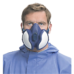Mascherina antipolvere 3M 4255 Tessuto blu bianco