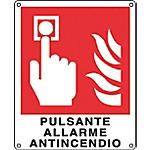 Cartelli Segnalatori Pulsante allarme antincendio 12 x 14,5 cm