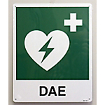 Cartello per defibrillatore PVS Alluminio 34 x 36 cm