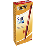 Penne a sfera a scatto BIC Soft Feel Clic Grip tratto rosso 12 pezzi