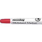 Marcatori per lavagne bianche Niceday WCM1 5 a scalpello 5 mm rosso