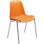 Sedia per sala d'attesa Elena arancione