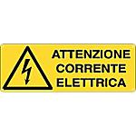 Cartelli Segnalatori Attenzione corrente elettrica 35 x 12,5 cm