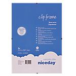 Cornici con clip Niceday 978922 A4 Trasparente 29,7 (l) cm 2 unità