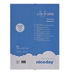 Cornici con clip Niceday 978923 PK2 Trasparente 40 (l) cm 2 unità