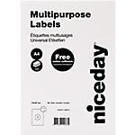 Etichette multifunzione Niceday Bianco 100 etichette 100 Fogli