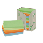 Notes riposizionabili Post it 127 x 76 mm Assortiti 16 unità da 100 fogli