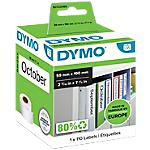 Etichette DYMO Registratori grandi 59 x 190 mm bianco 110 etichette