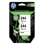 Cartuccia inchiostro HP originale 344+344 3 colori c9505ee