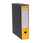 Registratore con custodia Viking registratore con custodia Protocollo 80 mm Carta, cartone 2 anelli A4 giallo