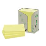 Notes riciclati Post it 127 x 76 mm Giallo 16 unità da 100 fogli