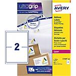 Etichette multifunzione AVERY Zweckform QuickPEEL A4 bianco 199,6 x 143,5 mm 100 fogli da 2 etichette