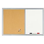 Lavagna doppia sughero Bi Office bianco 90 x 60 cm