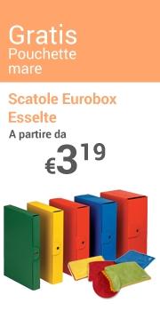 Pouchette mare Gratis Scatole Eurobox Esselte