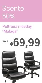 """Solo €69,99 Poltrona niceday """"Malaga"""""""