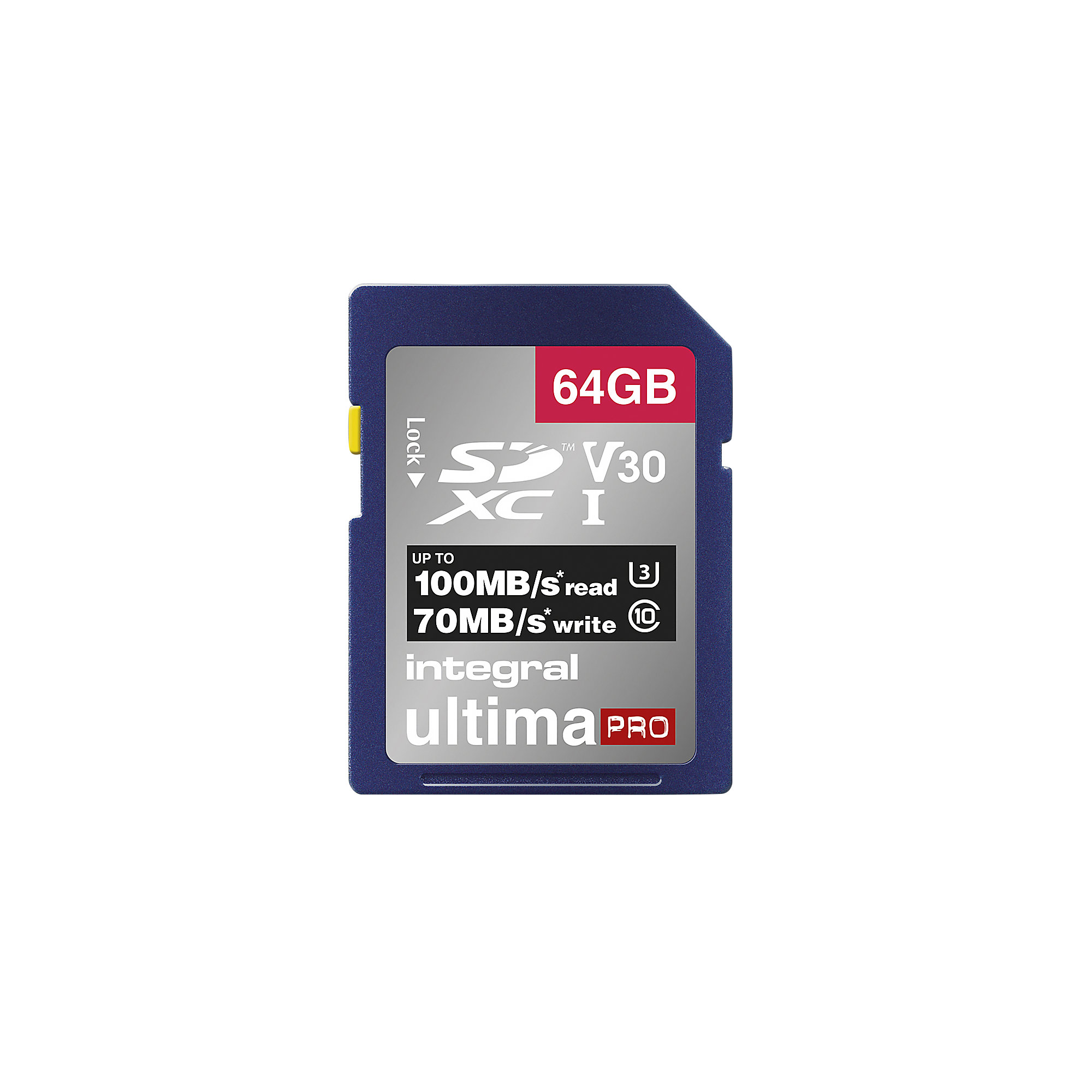INTEGRAL V30 Class 10 SD Memory Card - 64 GB