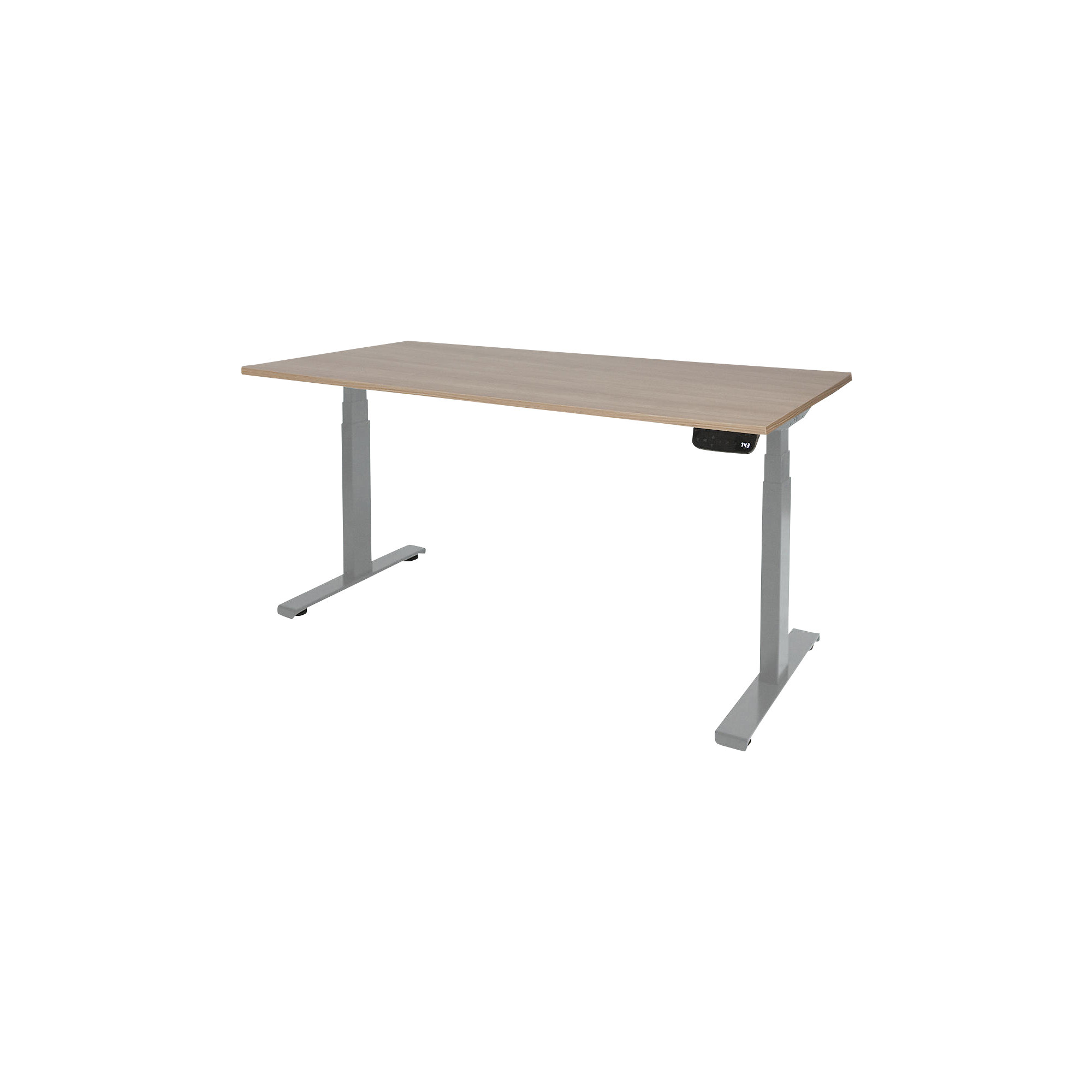 Schaffenburg Zit sta bureau Dextro Plus havana cherry light t poot 180x90 25mm alu