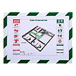 exacompta Magnetisch klembord 39207E Wit, Groen Plastic (PVC) 33 x 0,2 x 24 cm 5 Stuks