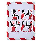 exacompta Magnetisch klembord 39206E Wit, rood Plastic (PVC) 33 x 0,2 x 24 cm 5 Stuks