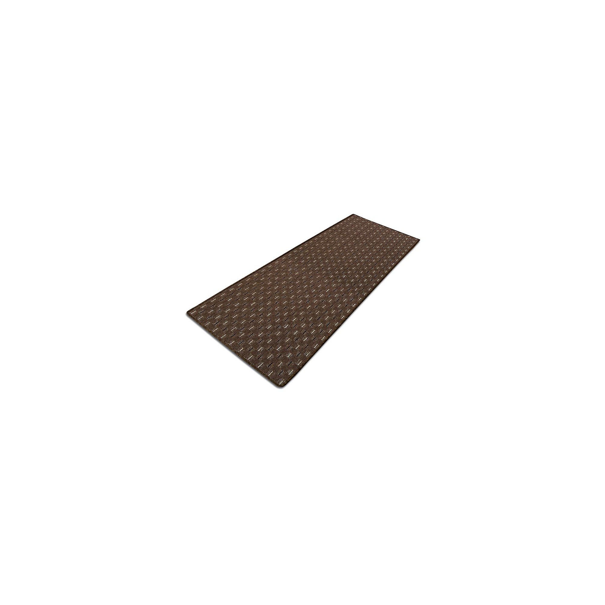 FLOORDIREKT STEP Vloerkleed Glasgow vilt, PP Bruin 2500 x 500 mm