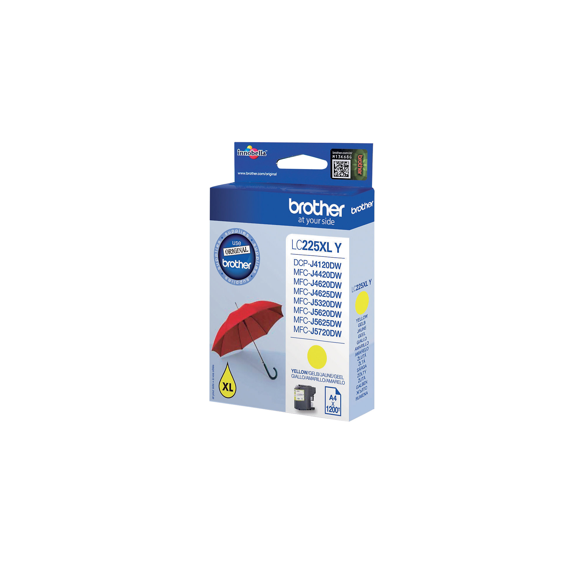 Brother LC225XLY Origineel Inktcartridge Geel
