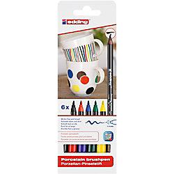 edding E4200 Porzellan-Pinselstift 6 Stück