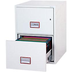 Phoenix Feuersicherer Hängeregistraturschrank FS2262K Weiß 530 x 810 x 720 mm