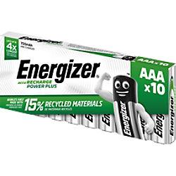 Energizer AAA Wiederaufladbare Batterien Power Plus HR03 700 mAh NiMH 1,2 V 10 Stück 416985
