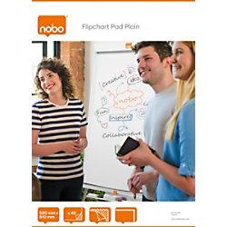 Nobo Flipchart-Papier Blanko DIN A1 60 g/m² Blanko 40 Blatt 34631165