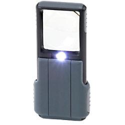 Carson Pocket Vergrösserungsglas PO-55 MiniBrite Schwarz und Grau 51 mm