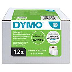 DYMO S0722420 Adress-/Versand-, Namensaufkleber 101 x 54 mm Weiß 12 Rollen mit 220 Etiketten
