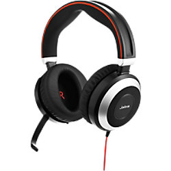 Jabra Evolve 80 MS Stereo Kabelgebundenes Headset Schwarz 7899-823-109