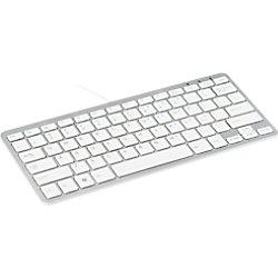 R-Go Tools Tastatur Verkabelt Kompakt-Tastatur QWERTZ DE Weiß RGOECQZW