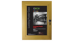 Lockable Poster Case
