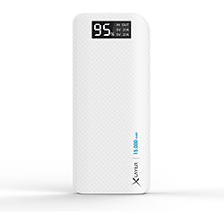 XLayer Powerbank Pure Carbon 15.000 mAh Weiß 214414