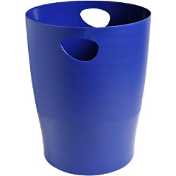 Office Depot Papierkorb Blau 26,3 x 26,3 x 33,5 cm 1031320