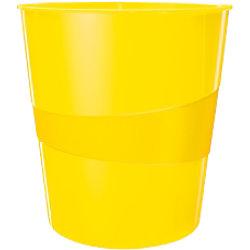 Leitz WOW Papierkorb 15 Liter Gelb 29 x 29 x 32,4 cm 52781016
