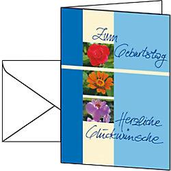 Sigel Geburtstagskarte DS610 DIN A6 220 g/m² Sortiert 10 Stück