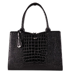 SOCHA Damen Laptoptasche Croco Jet Black 15.6