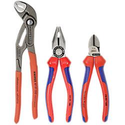 Knipex Zangen-Set 00 20 09 V01 Chrom-Vanadin-Elektrostahl, Spezial-Werkzeugstahl, Vanadin-Elektrostahl