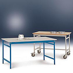 Manuflex Beistelltisch Kunststoff Hellgrau 1.500 x 600 x 780 mm BB3057.7035