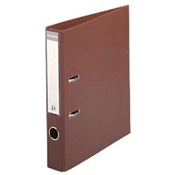 Exacompta Prem Touch Ordner 53546E 55 mm PVC, Karton 2 Ringe DIN A4 Braun 10 Stück