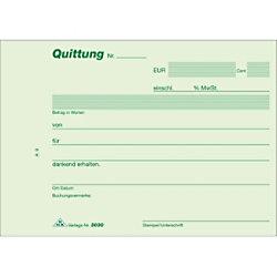 RNK Quittungsblock DIN A6 Quer Mikroperforation Blaupapier 50 Blatt 558189
